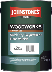 JOHNSTONE'S Quick Dry Polyurethane Floor Varnish – 5 l