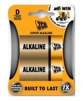 Alkalická baterie JCB LR20/D, blistr 2ks