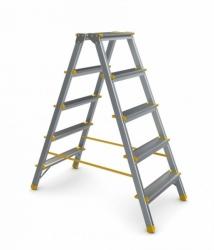 Schůdky oboustranné hliníkové ALVE 2x4 příčky